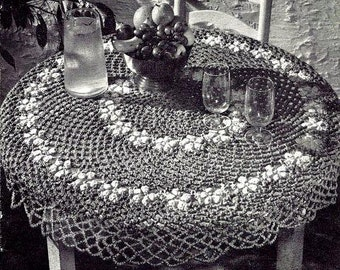 Be-Flowered Tablecloth Crochet Pattern 723152