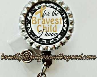 Childhood Cancer Awareness Retractable Name Badge Holder Reel