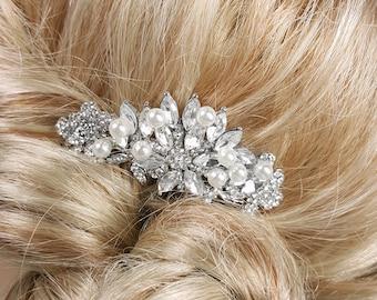 Crystal Hair Comb, Pearl Bridal Hair Comb, Vintage Hair Pin, Wedding Hair Accessories, Crystal Rhinestone Vintage Style Bridal Hair Comb