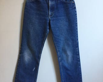 Vintage Lee Rider Denim Blue Jeans // 60s Perfectly Worn Jeans 25 26 Womens