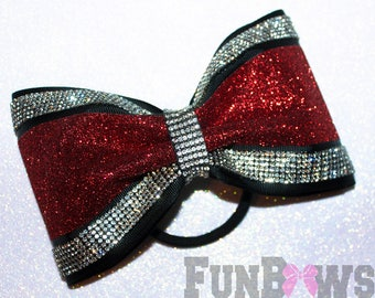 Beautiful glitter rhinestone tailless bow by FunBows ! - Customize this !
