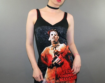 Texas Chainsaw Massacre Leatherface Horror Movie Dress Halloween