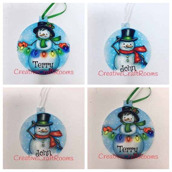 Name ornament, Personalized Ornament, Ornament, Personalized ornament, Personalized Snowman Ornament, Personalized Snow Woman Ornament