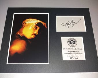 Tupac Shakur - 2pac - Signed Autograph Display - Mounted And Ready To Be Framed - Rap Hip Hop