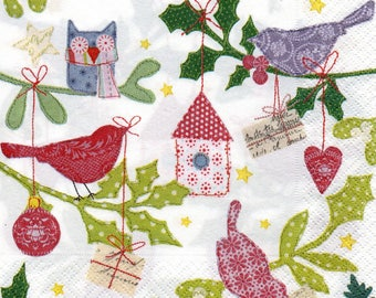 Napkin 095 OWL and other birds