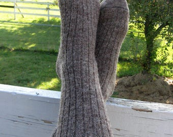 Alpaga des chaussettes pour hommes, Extra Large, laine et alpaga chaussettes, Dark Brown Sox, Grown dans le Michigan - de toisons de 2017