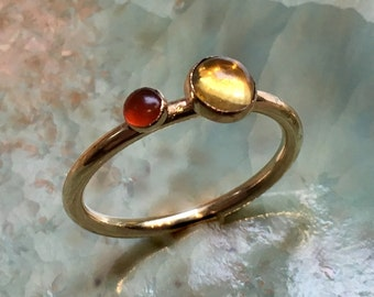 Mothers ring, birthstones ring, Gold ring, Gold Filled ring, family ring, customised ring, family ring, multistone - So happy together R2452
