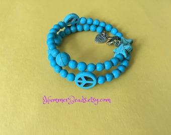 B015 Peace Wire Bracelet