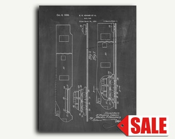 Patent Print - Rail Car Patent Wall Art Poster