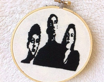 The xx wall decor/The xx wall art/The xx embroidery