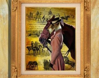 Fox Terrier Wire Art Print 11 x 14 inch original illustration artwork giclee archival premium poster print By Nobility Do