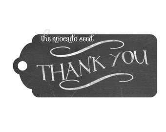 Chalkboard Thank you Event / Gift Tags - Instant Download