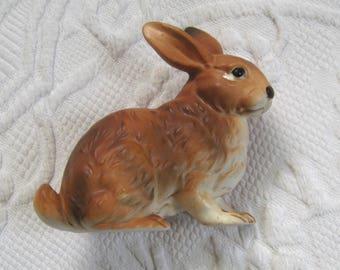 rabbit figurine . porcelain rabbit figurine . vintage easter bunny figurine . easter bunny . lefton rabbit figurine . lefton bunny