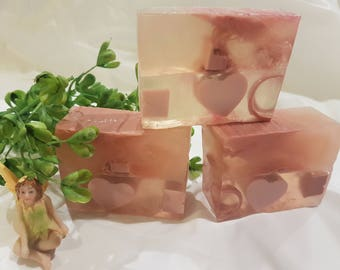 Natural soap, essential oil soap, mint chocolate heart soap favors, wedding favor, shower favor, mothers day gift, soap bar bridal favor