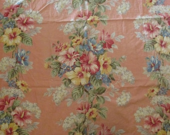 Vintage Barkcloth Fabric Cotton