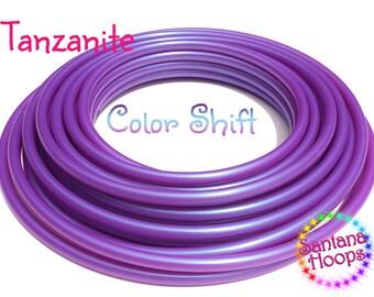 """5/8"""" UV Tanzanite Color Shifting Polypro Hula Hoop color shift morph"""