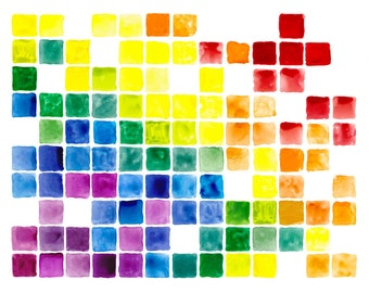 "11x14"" Rainbow Art Abstract Watercolor Fine Art Poster Print [Watercolor Rainbow Print Rainbow Art Abstract Watercolor Rainbow Watercolor]"