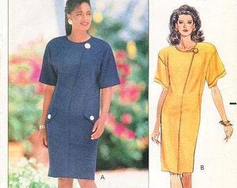 Sz  12/14/16 - Butterick Pattern 5408 - Misses' Fast & Easy Dress Sewing Pattern - Leslie Fay Design