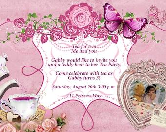 Princess Tea Party, Princess Party Invitations, Tea Party Invitations, Princess Tea Birthday, Princess Party