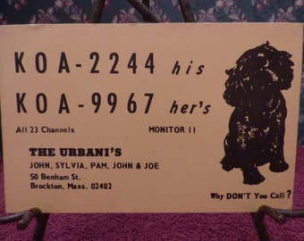 Vintage CB Radio card