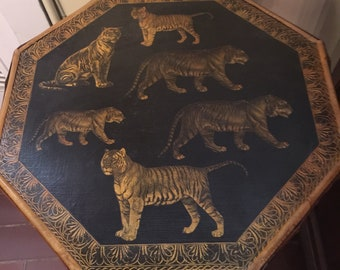 Antique Bamboo Tiger Table