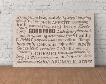 Typography Print, Kitchen Decor, Room Decor, Digital Design. Printable Art