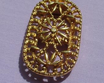 Vintage Flower Brooch Scarf Clip Combo
