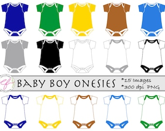 Baby Boy Onesies Clipart,Baby Shower Cliparts,Onesies Clip Art,boy onesie,Instant Download