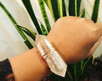 Large Adjustable quartz cuff
