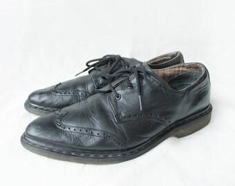 Dr Martens Black Leather Doc Martens Boots Vintage / US-Canada size 9.5/ EU size 43/ UK 9 for Men