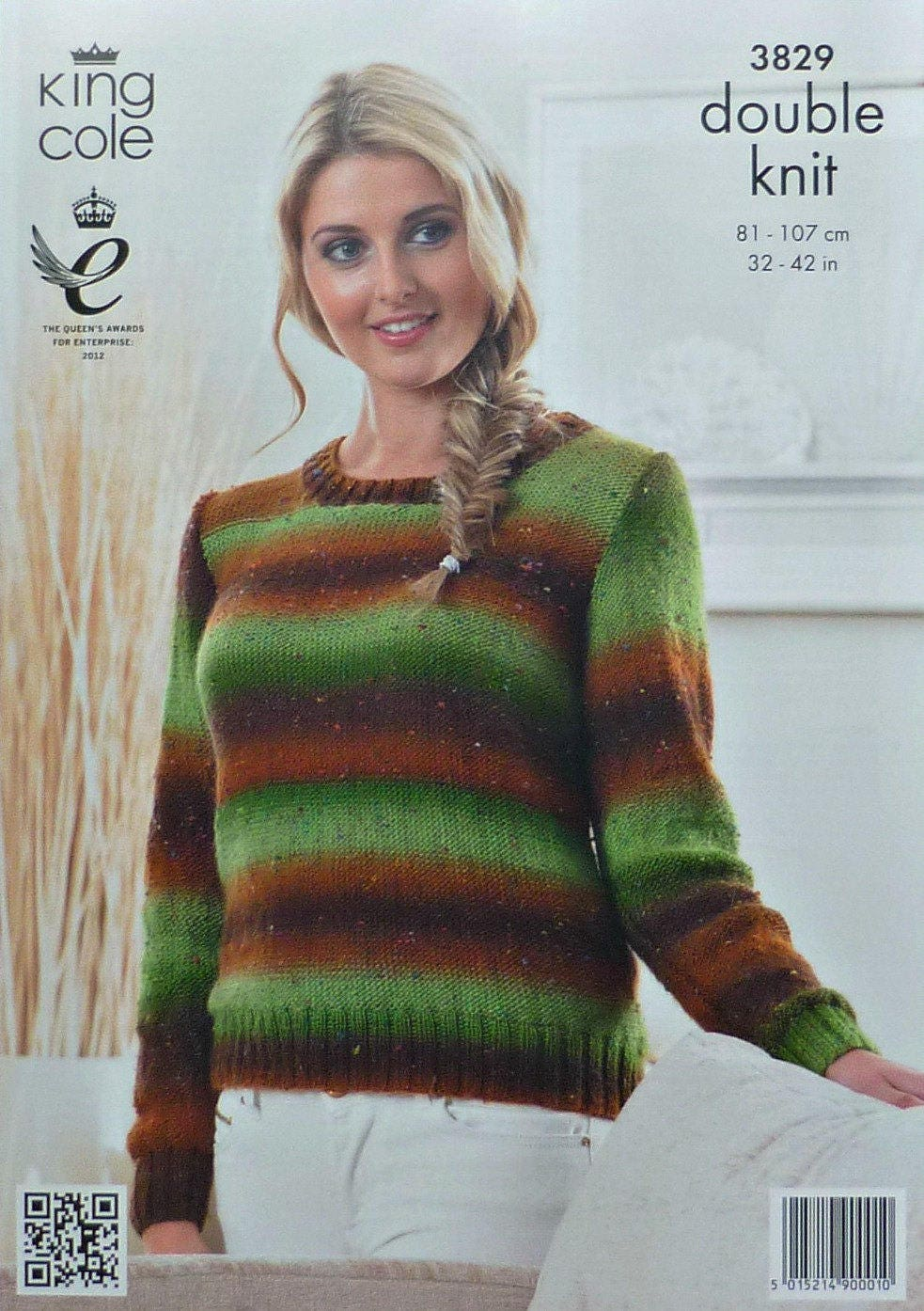 c0b03ab55b06 Womens Knitting Pattern K3829 Ladies Easy Knit Long Sleeve Round Neck Jumper  Knitting Pattern DK (Light Worsted) King Cole from KnittingPatterns4U on  Etsy ...