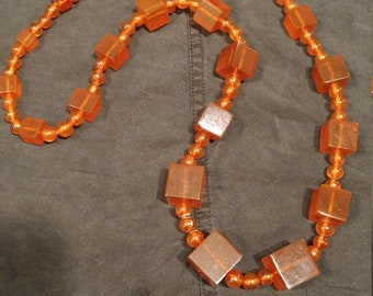 "Amber Necklace  32"" Russia"