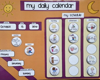 Daily Kids Magnet Calendar, Schedule, Activity & Chore Chart - Regular or Personalized