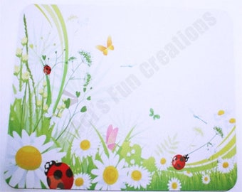 Mouse Pads, Mousepads, Home Office Decor,Desk Accessory Mousepad,Computer Mouse Pad Accessories,Butterflies,Butterflies,flowers and ladybugs
