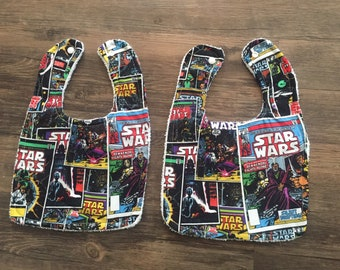 Set of two Star Wars bibs with terry cloth backing