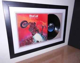 """Meat Loaf """"Bat Out Of Hell""""..lp framed"""