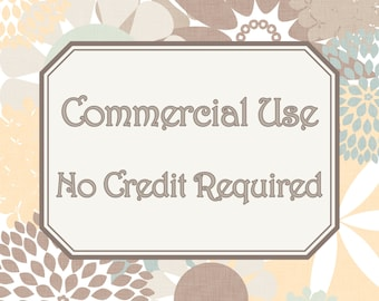Small Commercial Use - No Credit Required for Clip Art & Digital Papers