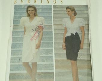 Butterick Leslie Fay Evening Misses' Dress Pattern Size 12, 14, 16