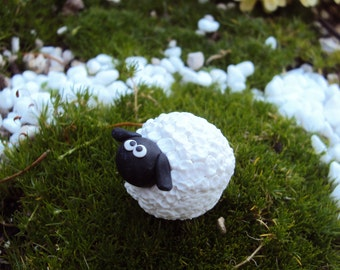 Fairy Garden Sheep, Miniature Sheep, Fairy Sheep, Miniature Garden, Miniature Garden Sheep, Fairy Friend