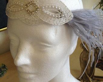 1920s Headband, Gatsby Wedding Headpiece, Wedding Dress Headband, 1920s Wedding Dress Hair Piece, Art Deco Bridal 1920s