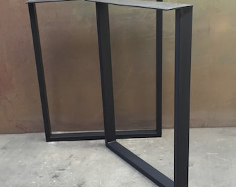 Metal table legs U set of 2