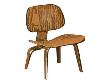 For Charles and Ray Eames - Molded Plywood Chair 8x10 Print