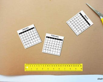 2018-2017 Calendars Printable Mini, For Crafts, Planners, PDF File, 2017 calendar, calendars, Digital Download, Printable, Instant Download,
