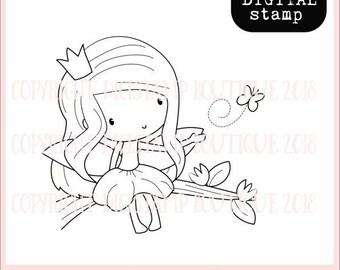 Flutterby fairy digital stamp - digi