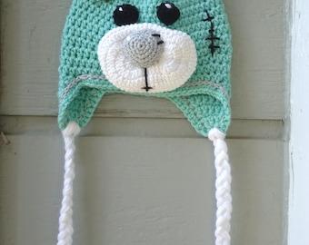 Teddy Bear Hat, Crochet Teddy Bear Hat, Crochet Bear Hat, Bear Hat, Baby Bear Hat, Crochet Hat, Adult Hats,Children Hats