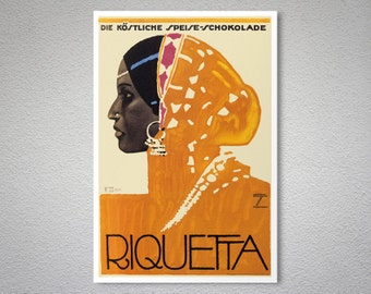 Riquetta Vintage Food & Drink Poster  - Poster Print, Sticker or Canvas Print / Gift Idea