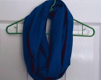 Blue Flannel - 100% Cotton Eternity Scarf -  Handmade