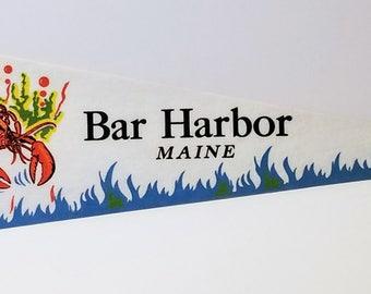 Bar Harbor, Maine - Vintage Pennant