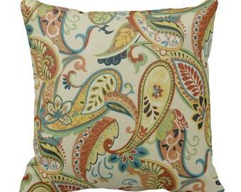 paisley pillows, throw pillows, pillow covers, cushion covers, decor, euro shams, paisley shams, accent pillow, chair pillow, lumbar cover