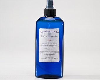Body & Linen Mists, aromatherapy essential oil spray - Lavender, Patchouli, Joy, Peaceful, etc